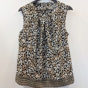Jones New York 16W leopard animal print blouse